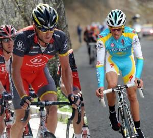 Armstrong et Contador, le premier duel en 2010