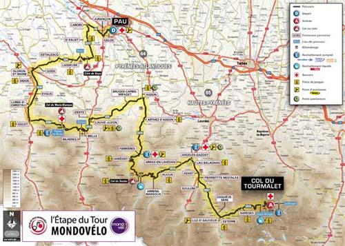 Le parcours de l'Etape du Tour 2010