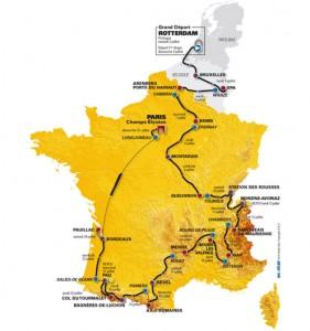 Le parcours du Tour de France 2010