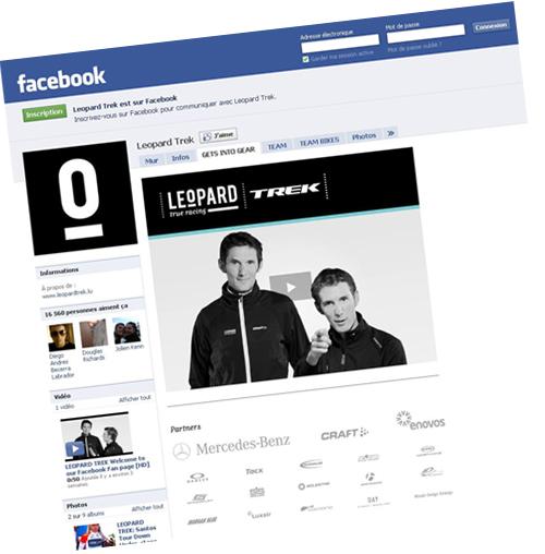 La page Facebook de l'équipe Leopard-Trek