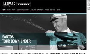 Le site Internet de l'équipe Leopard-Trek