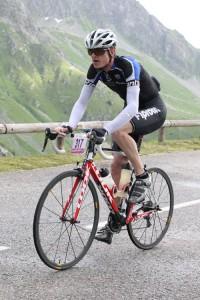 Dans la montée du Col de La Madeleine