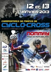 Affiche championnats de France Cyclo-Cross 2013 à Nommay