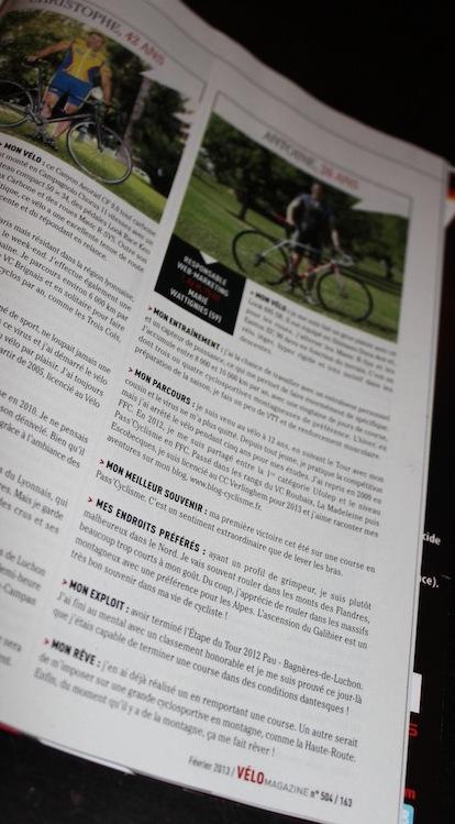 A l'affiche dans Vélo Magazine