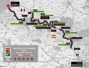 Le parcours de la Haute Route Pyrénées 2013