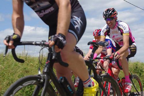 Julien fait la course en tête dans la dernière étape