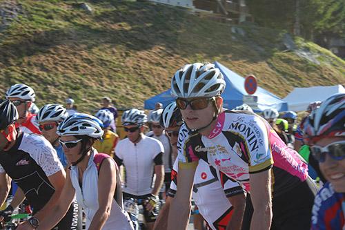 Au départ de la cyclosportive La Madeleine 2013