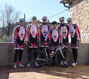 L'équipe du CC Verlinghem en Ardèche