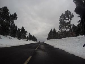 De la neige sur les plus hauts sommets ardéchois