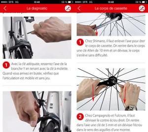 L'appli l'Atelier Le Cycle présente de belles fiches bien documentées