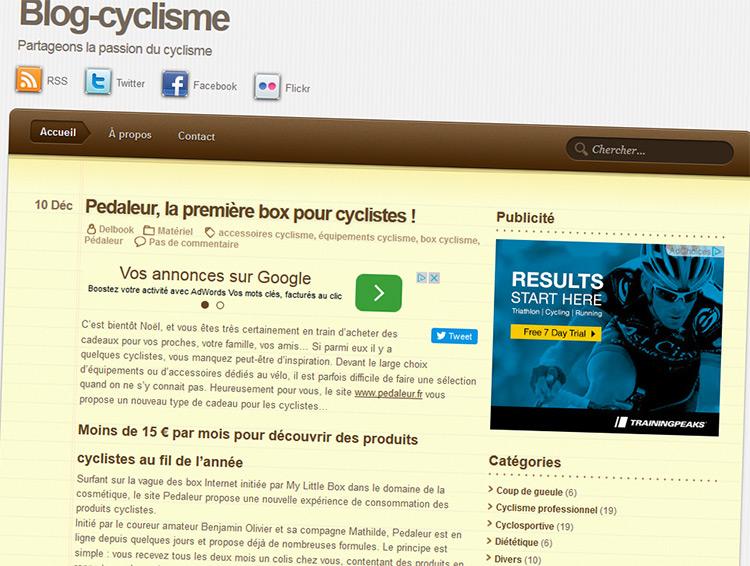 Clap de fin pour l'ancien design de blog-cyclisme.fr