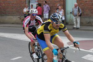 Christophe en tête en début de course...