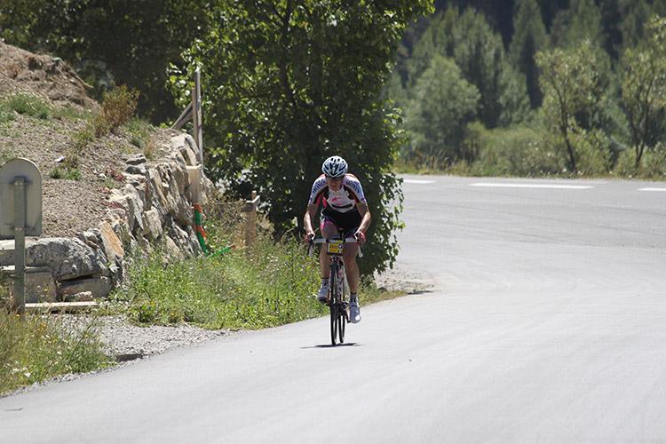 Au pied du col du Granon sur la Haute Route Alpes 2017