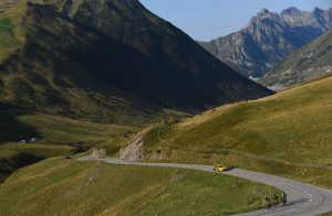 Les leaders de la Haute Route dans le Glandon