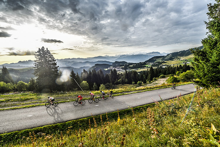 Un paysage magnifique sur la Haute Route Alpes 2017