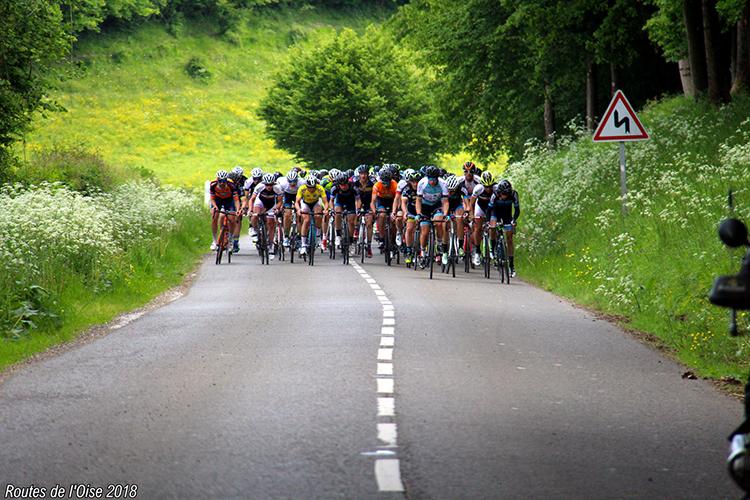 Le peloton des Routes de l'Oise 2018