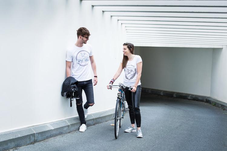 Les t-shirts Pti'Vélo se portent sur le vélo, mais surtout en dehors !