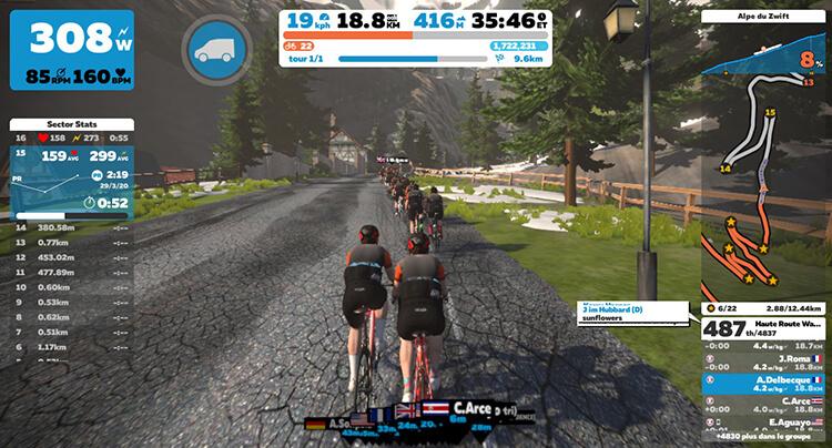 A bloc dans l'Alpe du Zwift, et comme dans la réalité, que c'est dur !