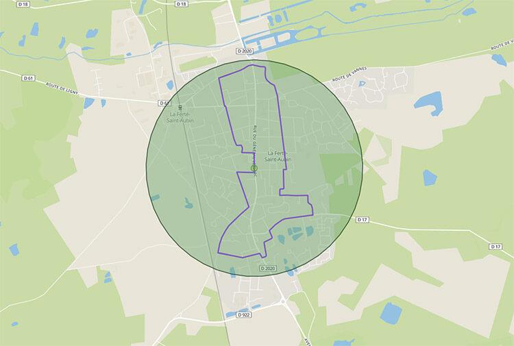 Calculez automatiquement un itinéraire à 1 km de chez vous avec dansmonrayon.fr